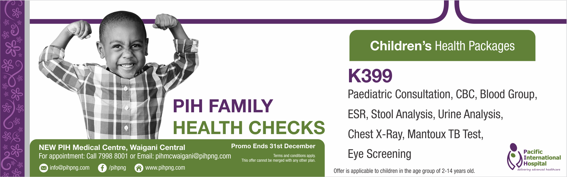 Childrens Health Check Package