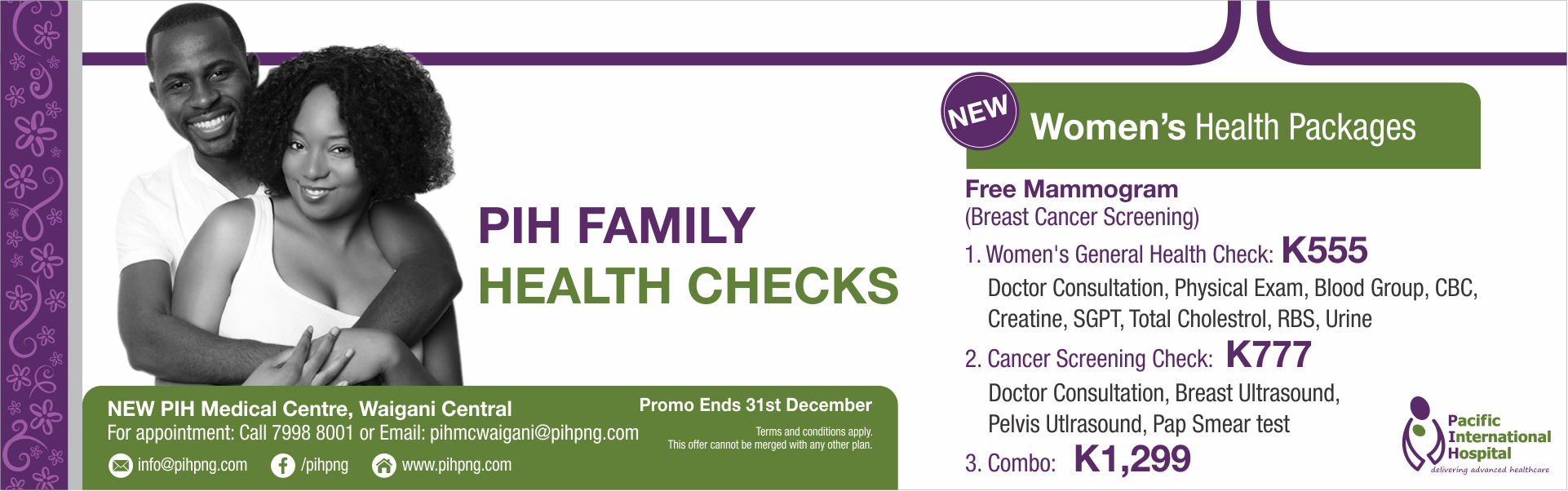 Womens Health Check Package